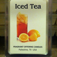 Handmade ICED TEA scented 3 oz. Soy Wax Melt, Wholesale Bulk Discount Pricing available for Wedding & Baby Shower Favors