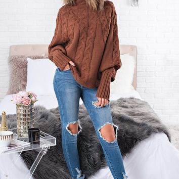 Jump On Knit Sweater (Taupe)