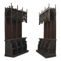 LATE 15TH/EARLY 16TH CENTURY AND LATER -A PAIR OF FRENCH WALNUT CHOIR STALLS