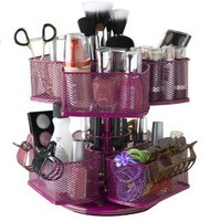 Nifty Cosmetic Organizing Carousel, Rose: Beauty