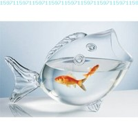 CLEAR FISH BOWL - CLEAR FISH SHAPED BOWL:Amazon:Kitchen & Dining
