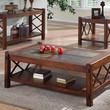 Dark Brown Sofa Table With A Slate Top