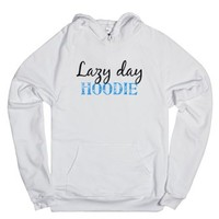 Lazy Day Hoodie-Unisex White Hoodie