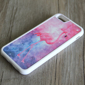 Nebula Galaxy Pink Flamingos iPhone 6/6plus/5S/5/5C/4S/4 Tough Case,Samsung Galaxy S5/S3/S3/Note 3 Silicone Case