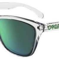OAKLEY 9013 FROGSKINS A3 CRYSTAL CLEAR SUNGLASSES SOLE JADE IRIDIUM