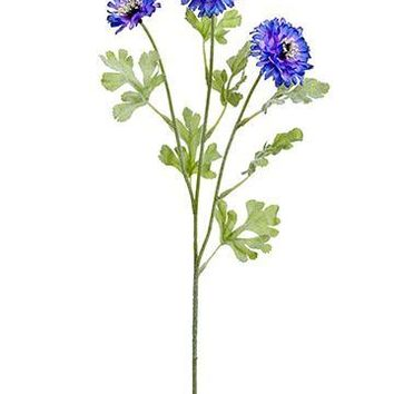 """Blue and Purple Artificial Cornflowers - 24"""" Tall"""