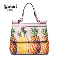 pineapple printing Designer Handbag For Women 2017 Casual Totes Famous Brand Top-handle Bags Luxury Handbags Women Crossbody Bag