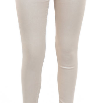 AG jeans | the legging ankle shimmer leatherette (light champagne beige)