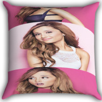 Ariana grande pose Zippered Pillows  Covers 16x16, 18x18, 20x20 Inches