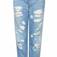 MOTO Pretty Bleached Ripped Hayden Jeans - Bleach Stone