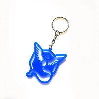 Mystic Team Acrylic Keychain Pokemon GO Acrylic Keyring Laser Cut Gift Laser Etched and Engraved The Best Gift for Her for Him
