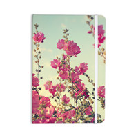 "Sylvia Cook ""Pink Lavatera"" Flowers Sky Everything Notebook"