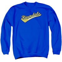 ARCHIE COMICS/RIVERDALE HIGH SCHOOL - ADULT CREWNECK SWEATSHIRT - ROYAL BLUE - XL