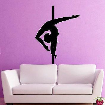 Wall Stickers Vinyl Decal Dance Pole Dancing Striptease Go Go Decor Unique Gift (z2003)