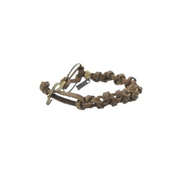 BROWN HOOK  MEN'S BRACELET