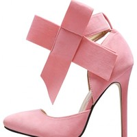 Fashion Sexy Women Stiletto High Heel Bowknot Pointed Toe Party Heels Size 37-40