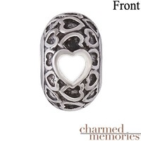 Kay - Charmed Memories Couple's Heart Charm Sterling Silver