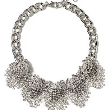 Banana Republic Sparkle Burst Necklace Size One Size - Clear crystal