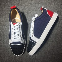 Christian Louboutin CL Low Style #2014 Sneakers Fashion Shoes Best Deal Online