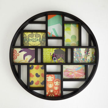 Dorm Decor, Scholastic Round Here Photo Frame in Black by ModCloth
