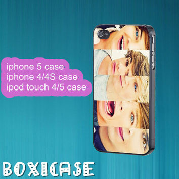 ONE DIRECTION--iphone 4 case,iphone 5 case,ipod touch 4 case,ipod touch 5 case,in plastic,silicone and  black , white.