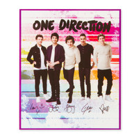 One Direction Striped Plush Throw Blanket