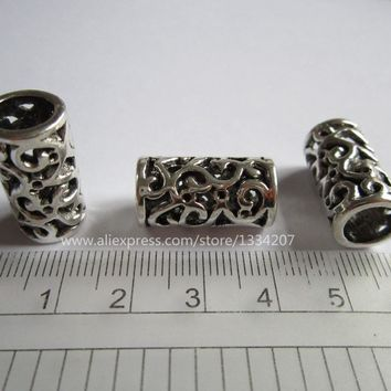 New Upgrade  10Pcs/Lot  Antique silver  hair braid dread dreadlock beads cuffs approx 8mm hole