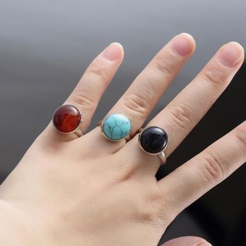 Trendy ring for women/ / opal