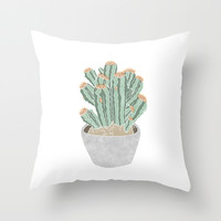 Cactus Throw Pillow by Veils And Mirrors