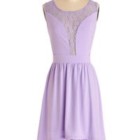 ModCloth Short Sleeveless A-line First Violet, First Chair Dress