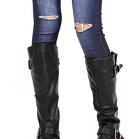 Stud Riot Knee High Boots