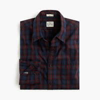 J.Crew Mens Secret Wash Shirt In Eggplant Check