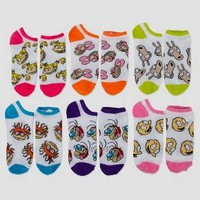 Women's No-Show 6pk Low-Cut Socks Nickelodeon Rugrats - Multicolor 9-11
