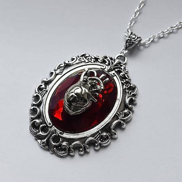 Gothic Succubus Anatomical Heart Necklace