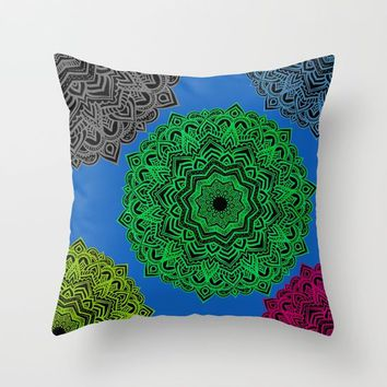 My Angel Spirit Mandhala | Secret Geometry Throw Pillow by Azima