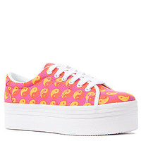 Jeffrey Campbell The Zomg Sneaker in Fuchsia Ying Yang : Karmaloop.com - Global Concrete Culture
