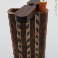 Tri-Stripped Wooden Dugout