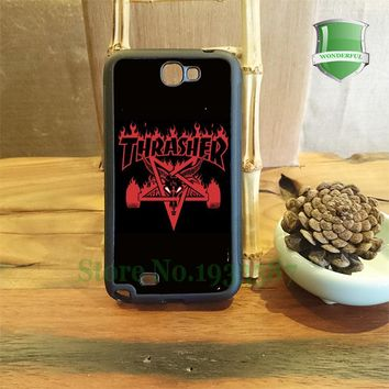 thrasher mobile phone cases for Samsung S3 S4 S5 S6 S6 edge Plus S7 S7 edge note2 note3 note4 note5 S-7182