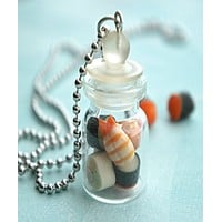 Sushis in a Jar Necklace