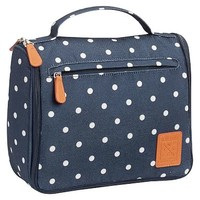 Northfield Navy Dot Ultimate Hanging Toiletry