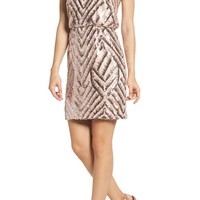 Vince Camuto Sequin Blouson Dress | Nordstrom