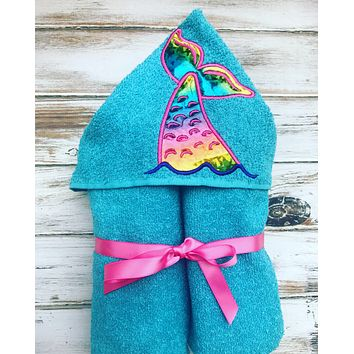Mermaid Tail Hooded Towel