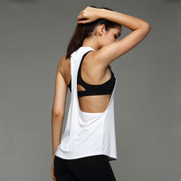 Women Gym Sports T Shirt Yoga Workout Vest Fitness Training Exercise Running Clothing Sportswear Tee Tank Tops Singlets Clothes