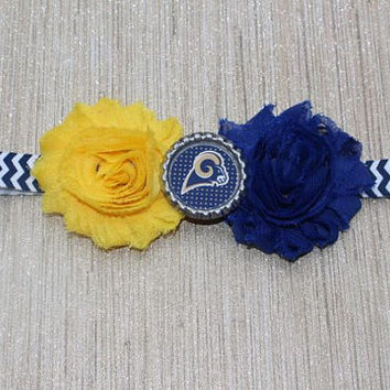 NFL St Louis Rams inspired headband- perfect for football season! St Louis Rams Baby Headband