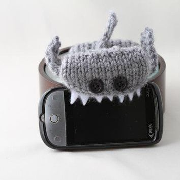 Monster Shark Silver Grey iPhone/iPod cozy by Handamade on Etsy