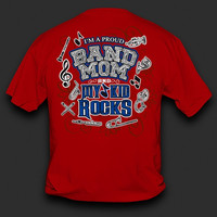 Sweet Thing Funny Proud Band Mom My Kid Rocks Red Girlie Bright T-Shirt