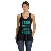 I run because I really like FOOD Tanktop