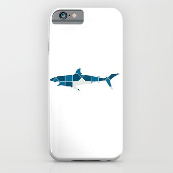 SHARK SILHOUETTE WITH PATTERN iPhone & iPod Case by deificus Art