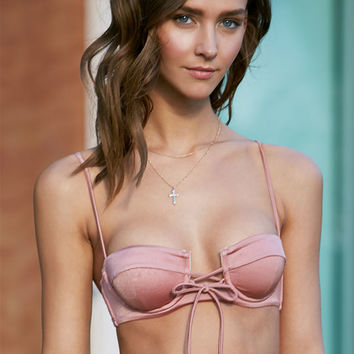 LA Hearts Lace-Up Underwire Bralette Bikini Top at PacSun.com