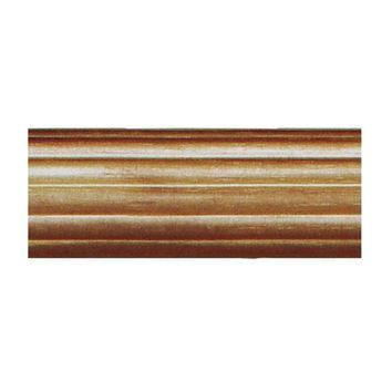 """House Parts 8 Foot - 1 3/8"""" Reeded Wood Pole For Curtains"""